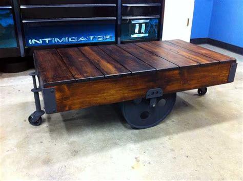 warehouse cart coffee table