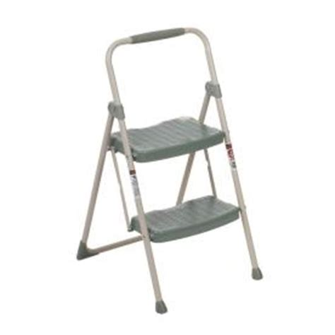 utility two step stool shop werner 2 step steel utility step stool at lowes
