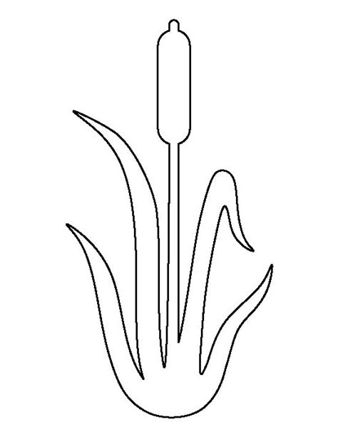 cattails coloring pages cattail pattern use the printable outline for crafts