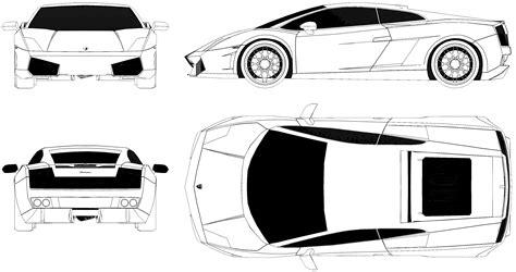 lamborghini gallardo blueprint car templates pinterest
