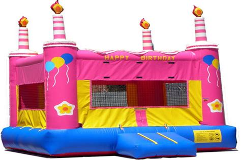 bouncing houses for birthday parties bounce time party rental pink birthday cake bounce house rentals 916 813 5867