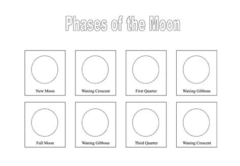 coloring pages for moon phases 15 best images of moon phases worksheet for kindergarten