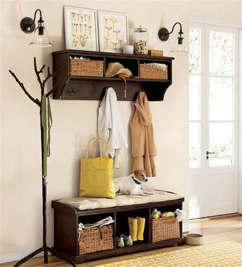 entryway backpack storage how to decorate your hallways every wall counts bush