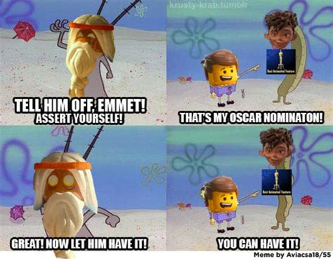 Lego Movie Memes - and that s how quot the lego movie quot didn t get nominated the