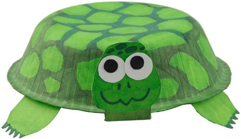 Paper Turtle Craft - paper bowl turtle craft kid crafts