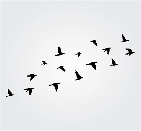 flying birds wall stickers flying birds wall sticker flock of birds wall decal bird