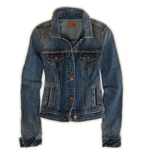 American Eagle Dot Denim nwt american eagle outfitters s studded denim jacket s m ebay