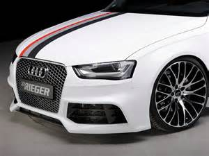 rieger rs4 look front bumper for audi a4 s4 b8 5