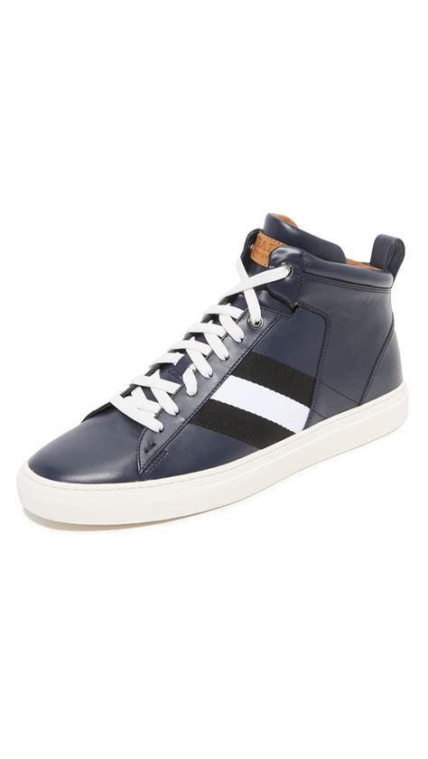 bally sneakers for bally hedern high top sneakers in black for lyst
