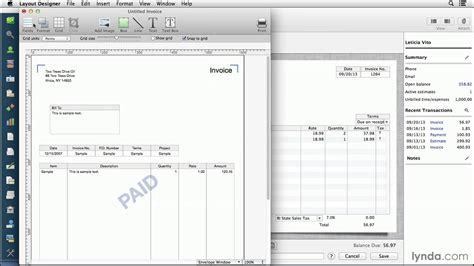 Quickbooks For Mac Tutorial Customizing Invoices And Forms Lynda Com Youtube Quickbooks Templates