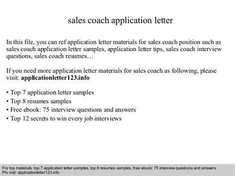 thank you letter sle coach sales coach application letter