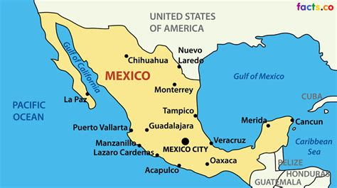 mexico in the map mexico map with cities blank outline map of mexico