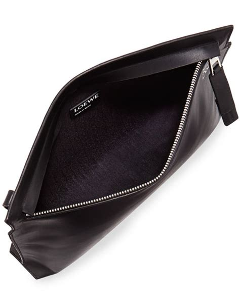 T Pouch Bag loewe large leather t pouch bag black