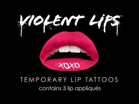 violent lip tattoos xoxo tattooforaweek temporary tattoos