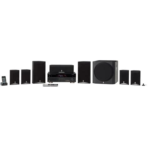 yamaha yht 893bl 7 1 channel home theater system yht 893bl b h