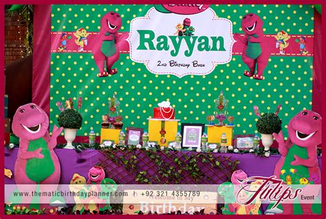 barney themed decorations barney theme ideas planner in pakistan