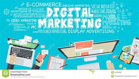 design online advertising flat design illustration concept for digital marketing