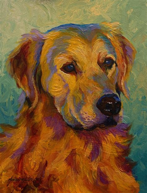 golden retriever prints paintings golden retriever painting by marion