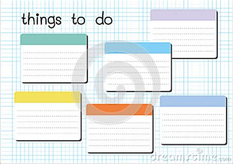Things To Make With A Sheet Of Paper - things to do blank stock vector image 51580410
