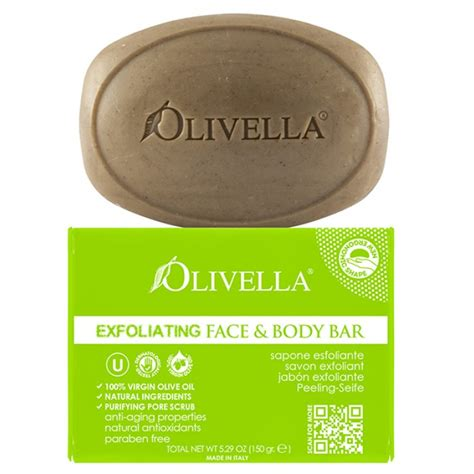 Top Bar Soap by Olivella 174 Exfoliating Bar Soap