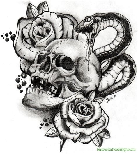 skull tattoo flash designs skulls archives best cool designs