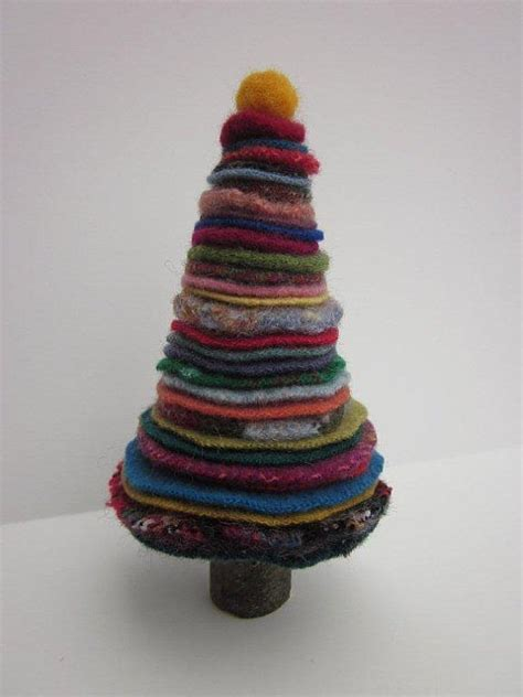 wool christmas tree pattern wool penny circles christmas tree felted wool and