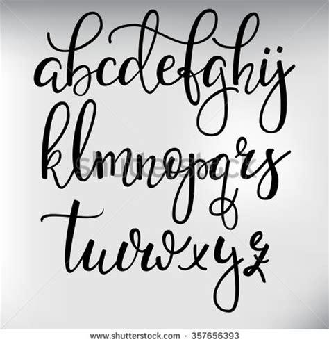 calligraphy font design handwritten brush style modern calligraphy cursive font