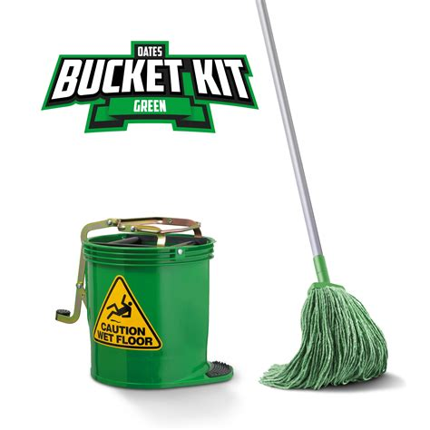 oates mopping kit green wringer bucket duraclean mophead handle