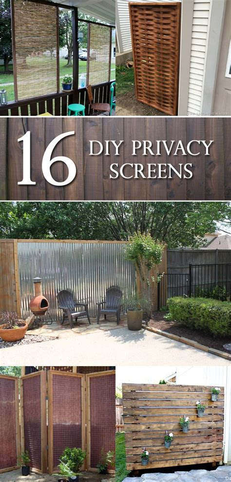 Diy Backyard Screen by 25 Best Ideas About Outdoor Privacy Screens On