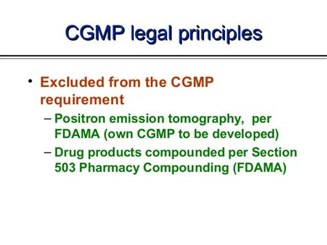 section 503 compliance cgmp in the usa training by cder fda