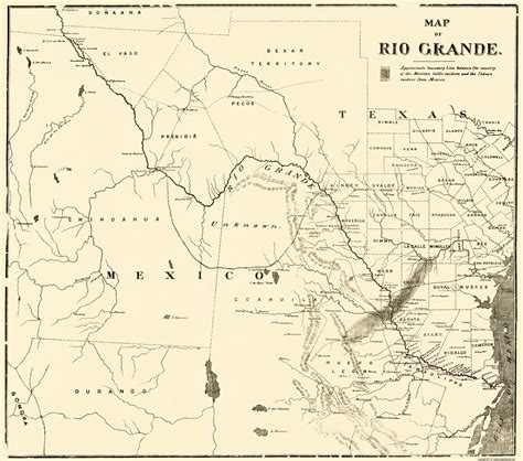 grande texas map railroad maps grande map showing part of mexico texas tx 1878