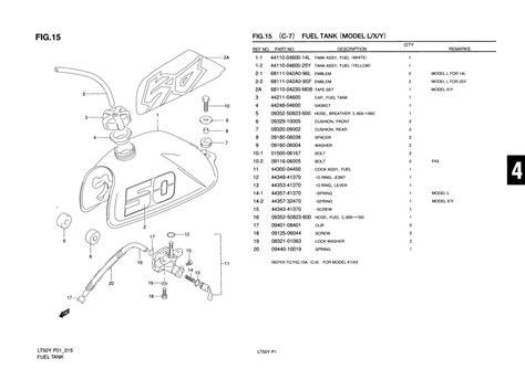 Suzuki Lt50 Parts Uk Genuine Suzuki Lt50 Model L X Y Atv Fuel Tank Fuel Tank