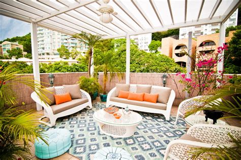 Tropical Patio Accessories Modern Moroccan Roof Top