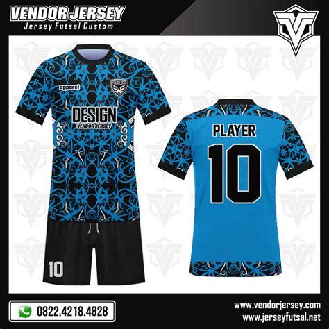 desain kaos futsal tanpa lengan desain jersey futsal gambar batik warna biru muda vendor