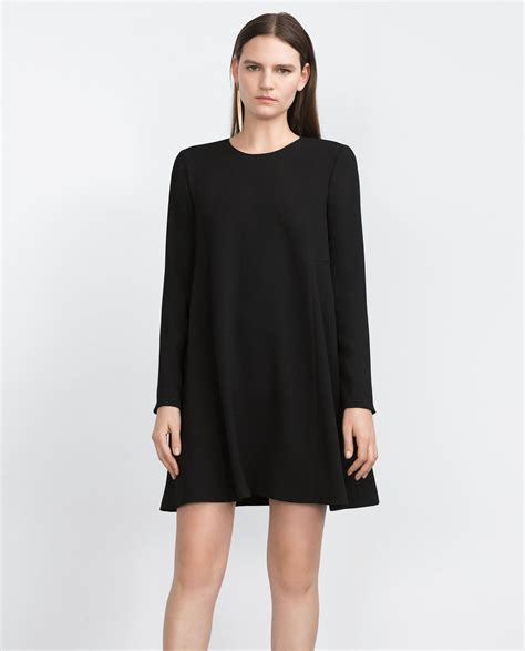 black doll dress zara baby doll dress in black lyst