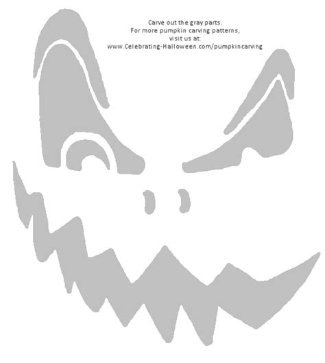 free printable scary jack o lantern stencils scary pumpkin carving patterns image king