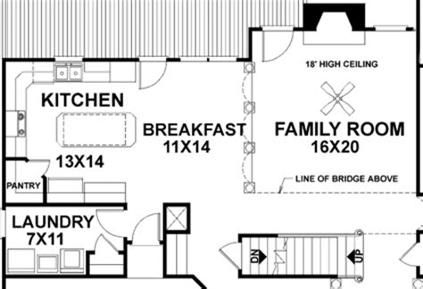Kitchen Family Room Floor Plans 11 floor plans that say come over for the game custom
