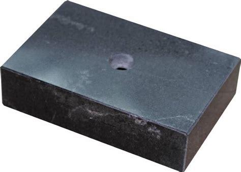 black marble trophy base lid 2 quot x 3 quot 1 hole marble