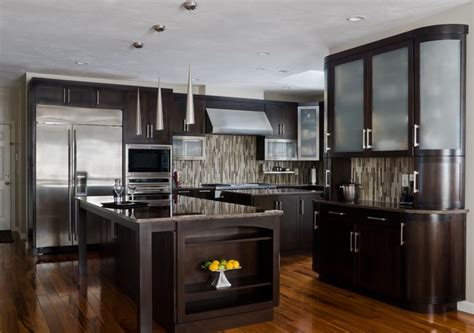 houzz modern kitchen cabinets walnut contemporary kitchen modern kitchen cabinetry boston by scandia kitchens inc