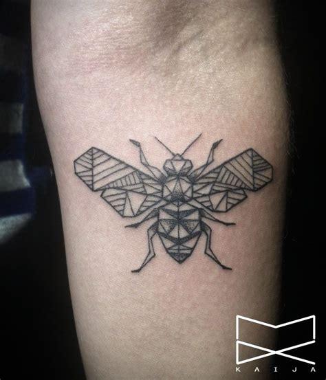 geometric insect tattoo kaija ink geometric bee tattoo my ink pinterest bees