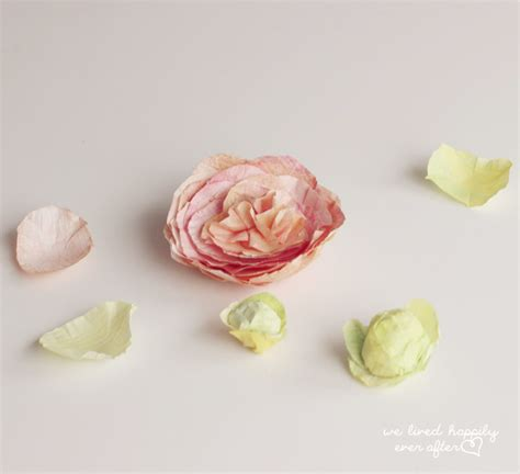 How To Make Paper Buds - we lived happily after how to make flower buds
