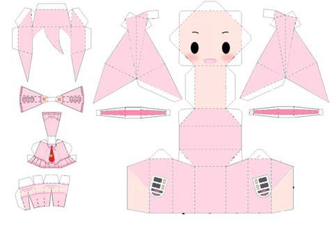 Anime Papercraft - miku chibi papercraft template by puellamagikazumi