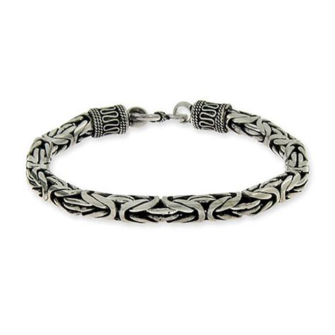 mens sterling silver bracelets mens bracelets eves
