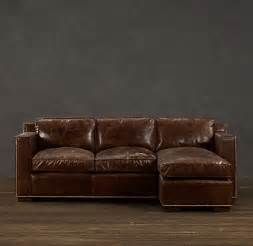 fancy collins leather sofa chaises restoration hardware