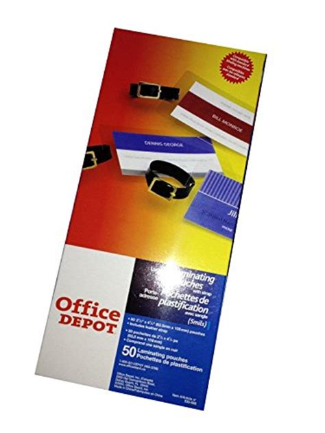 Office Depot Laminating Office Depot Id Card Luggage Tag Laminating Pouches