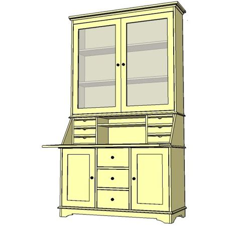 Build A Hutch diy china hutch plans woodworking projects plans