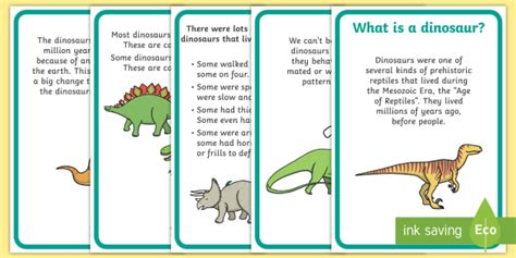 Dinosaur Craft For Kids - dinosaur fact display posters dinosaur dinosaur facts