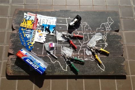 license plate craft projects diy license plate map update c r a f t