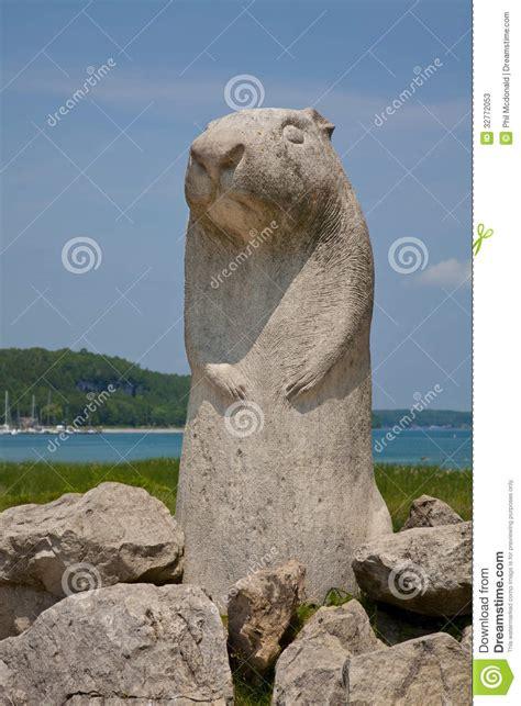 groundhog day ontario wiarton willy groundhog day monument stock photos image