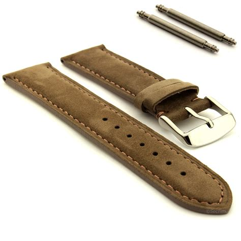 leather straps suede genuine leather band stainless
